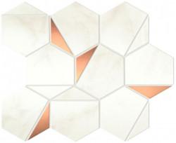 Mozaic Marvel Shine Calacatta Delicato Gold Hex lucios