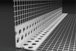 Coltar PVC cu plasa fibra sticla EUROGLASS, 2,5m/buc