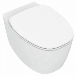 Vas WC Ideal Standard Dea AquaBlade, suspendat, cu fixare ascunsa, capac WC Dea soft-close inclus