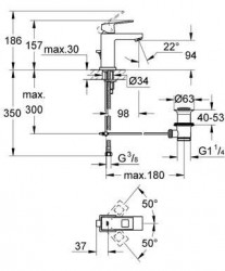 Baterie lavoar Grohe Eurocube S