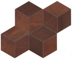 Blaze Corten Mosaico Hexagon Mat Atlas Concorde