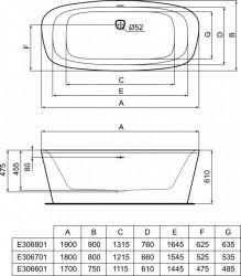 Cada freestanding Ideal Standard Dea 180x80