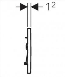 Clapeta de actionare Geberit Sigma 30 negru crom lucios