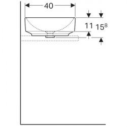 Lavoar pe blat Geberit Variform eliptic fara preaplin 55x40 cm