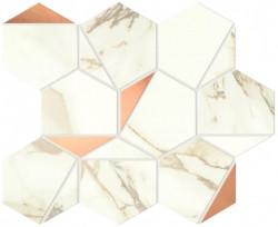 Mozaic Marvel Shine Calacatta Imperiale Gold Hex lucios