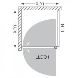 Panou de dus Roltechnik Lega Line lateral 90 cm