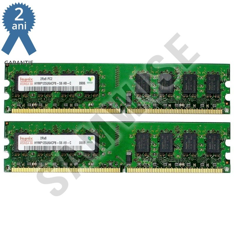 kit memorie ram hynix 2gb 2 x 1gb 800mhz ddr2 pc2 6400