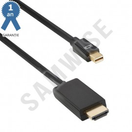 Cablu DeTech, mini DisplayPort Male - HDMI Male, lungime 1.8 metri