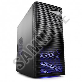 Poze Carcasa DeepCool WAVE LED mATX Mini-Tower, 1x120mm Blue LED fan (inclus), USB 3.0, Black