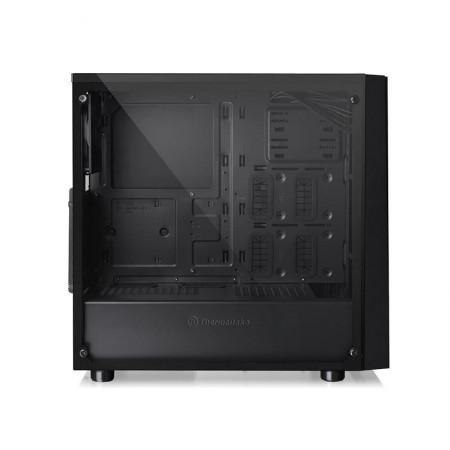 Carcasa Gaming Thermaltake Versa J21 Tempered Glass, USB 3.0, Panou transparent, MiddleTower, Desigilat