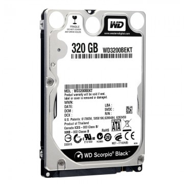 Poze Hard disk notebook WD 320GB SATA-II 7200 rpm 16MB Scorpio Black WD3200BEKT