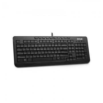 Tastatura Delux K3100 multimedia, USB, Negru