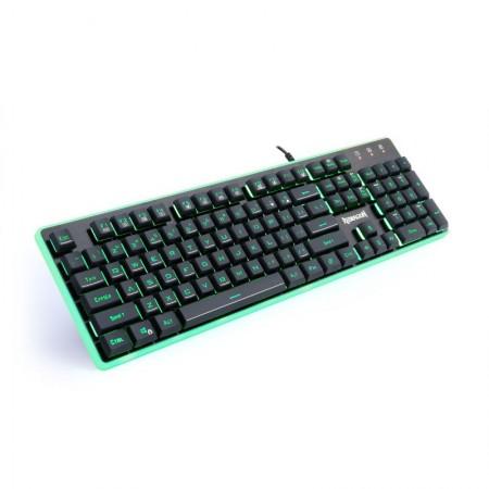 Tastatura Gaming Redragon Dyaus, Taste fara conflict, Iluminare LED, 12 taste multimedia