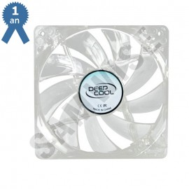 Ventilator DeepCool Xfan 120L transparent led rosu