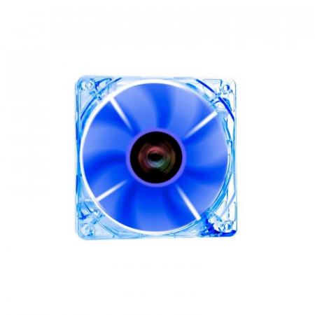Ventilator Riotoro Cross-X Clear Blue, 120mm, Iluminare LED albastru