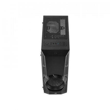 Carcasa Gaming AeroEngine iluminata RGB, Middle Tower, USB 3.0, Panou transparent