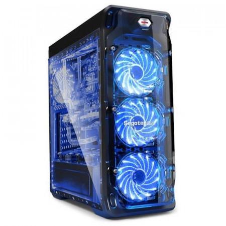 Carcasa Gaming Segotep LUX II V2, MiddleTower, Panou transparent, Iluminare LED