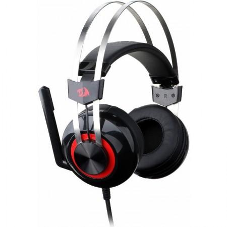 Casti Gaming Redragon Talos Black, Sunet surround 7.1, Telecomanda pe fir, USB, Difuzoare 40mm, Impedanta 16Ohm