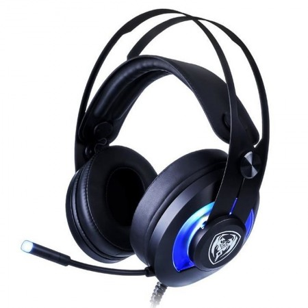 Casti Gaming Somic G200 Black, Stereo, Iluminare LED Albastru, USB, 114 db, Difuzoare 40 mm, 32 Ohm