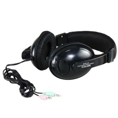 Casti Somic Senicc ST-2628 Black, Stereo, Difuzoare 40mm, Impedenta 32 ohm, 97db
