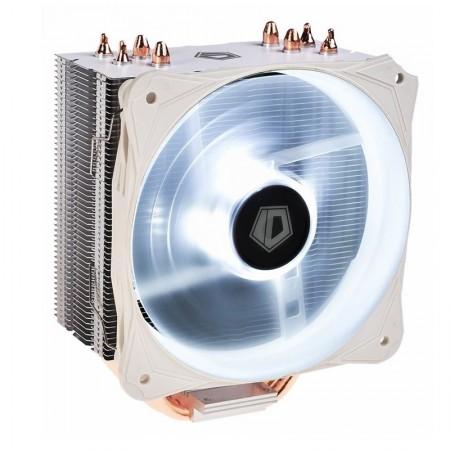 Cooler CPU ID-Cooling SE-214L Snow V2, Iluminare alba, Ventilator 130mm, 4x Heatpipe-uri cupru