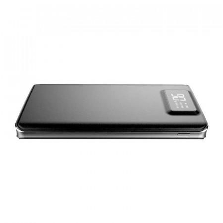 Baterie externa Hame P45, 10000 mAh, 2x USB, 2.1A, Afisaj LCD, Black
