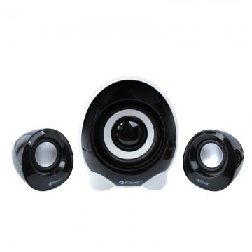Boxe Kisonli 2.1 U-2300, 5W+2x 3W, alimentare USB, 1x jack 3.5mm, Negru
