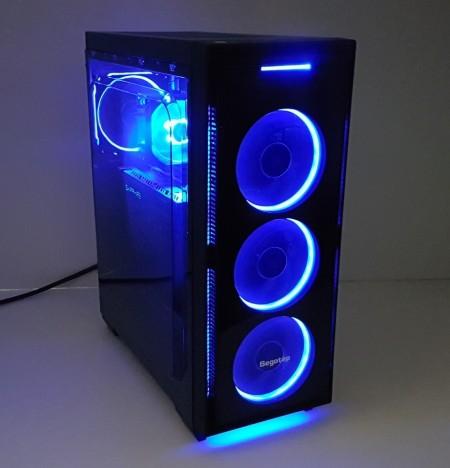 Calculator Halo Blue, Intel Core i7 4770 3.9GHz, 16GB DDR3, SSD 240GB, HDD 1TB, Video ATI RX 480 Nitro 8GB DDR5