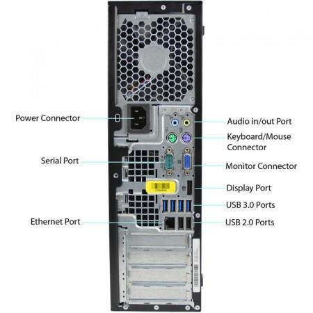Calculator HP 6300 SFF, Intel Core i5 3475S 2.9GHz, 4GB DDR3, 250GB, USB 3.0, DVD