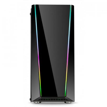Carcasa Gaming Redragon Tailgate, MiddleTower, Panou transparent, USB 3.0, Vent. 120 mm LED RGB