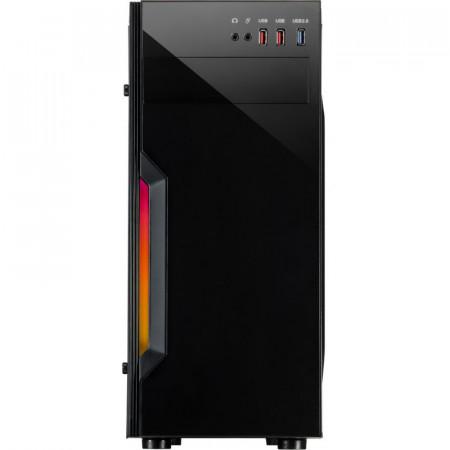 Carcasa Inter-Tech B-42 RGB, MiddleTower, USB 3.0, Panou transparent