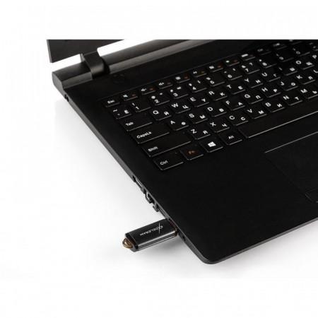 Memorie externa Exceleram A3 64GB, USB 2.0, Negru