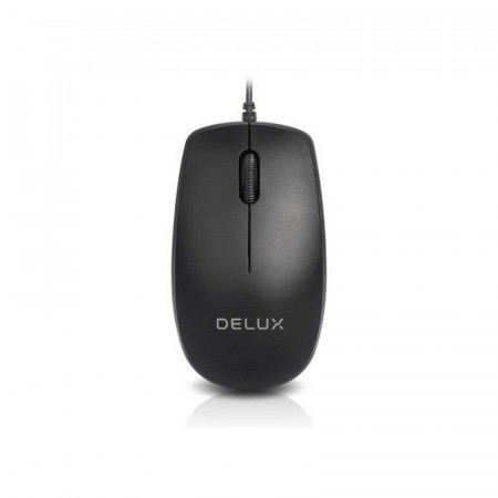 Mouse Delux M138 Black, USB, 1000dpi
