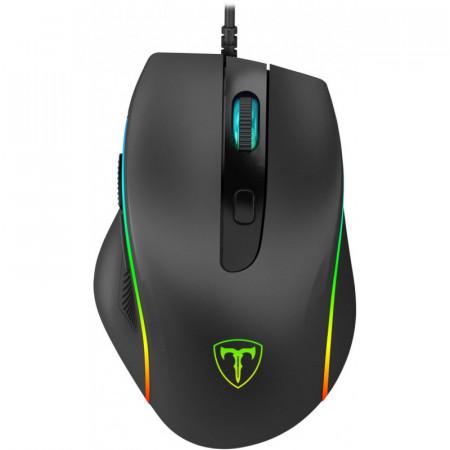 Mouse Gaming T-DAGGER Recruit 2, Optic, 3200 dpi, 6 butoane, iluminare LED