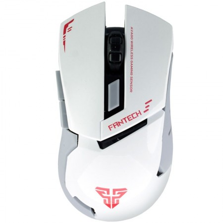 Mouse Gaming Wireless FanTech WG8, 2000DPI, Alb