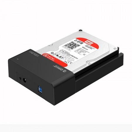 """Rack Orico 6518US3, compatibil HDD/SSD 2.5""""/3.5"""" SATA, USB 3.0, Negru"""