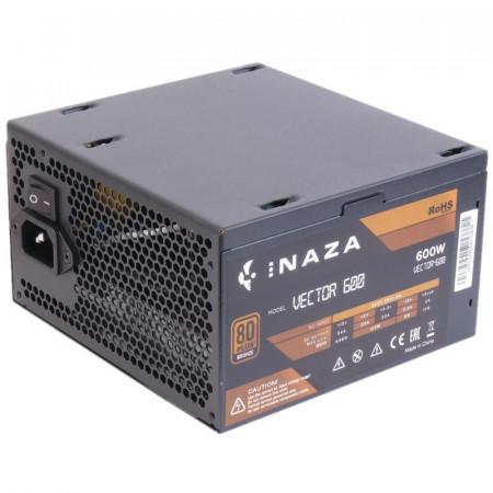 Sursa Gaming Inaza Vector, 80+ Bronze, 600W, 5x SATA, 2x Molex, 2x 6+2 PCI-E
