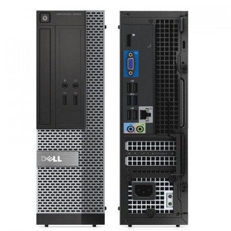 Calculator Dell 3020 SFF, Intel DualCore G3220T 2.6GHz, 4GB DDR3, 250GB, HD Graphics 4000, USB 3.0, DVD-RW
