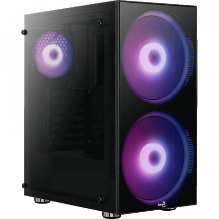 Carcasa Gaming Aerocool Python, MiddleTower, USB 3.0, Vent. 2x 200mm LED RGB