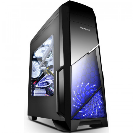 Carcasa Gaming Segotep Sprint V2, USB 3.0, Panou Transparent, MiddleTower, 2x 120mm