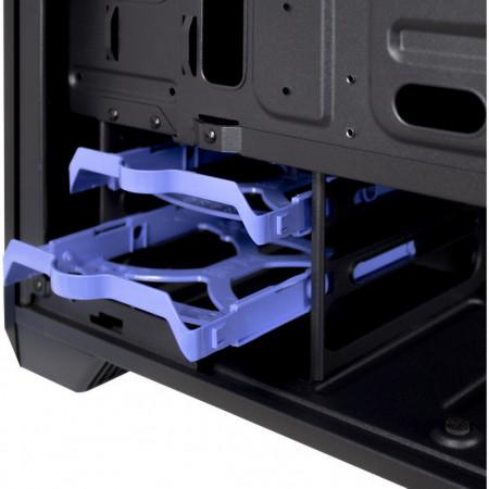 Carcasa Inter-Tech H-606, MiniTower, mATX, 2x USB 3.0, Vent. 120 mm