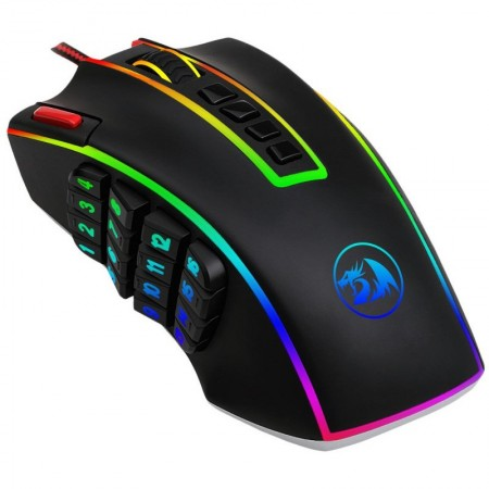 Mouse Gaming Redragon Legend Chroma, Optic, 24000 dpi, 24 butoane, Iluminare LED RGB