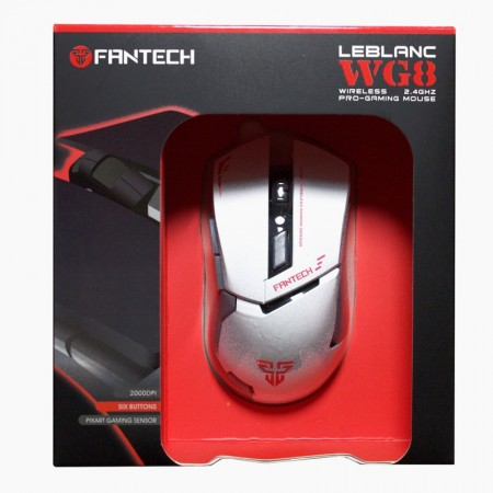 Mouse Gaming Wireless FanTech WG8, 2000DPI, Alb