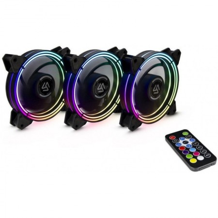 Ventilatoare Inter-Tech Alseye Halo 3.0 RGB, 3 Fan Pack, 120 mm