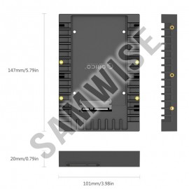 Adaptor HDD Orico 1125SS-BK, 2.5 la 3.5 inch, Negru