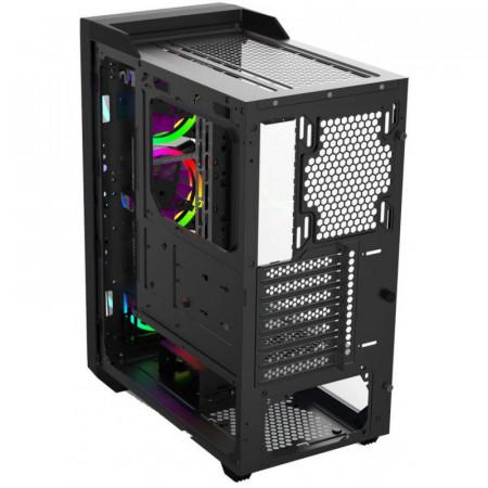 Carcasa Gaming Gamdias Talos M1 Lite, MiddleTower, USB 3.0, Panou transparent, 3x 120mm LED RGB