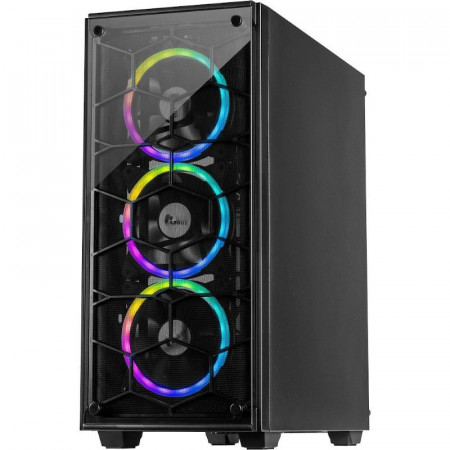 Carcasa Gaming Inter-Tech C-907 Cobweb, MiddleTower, USB 3.0, Panou transparent