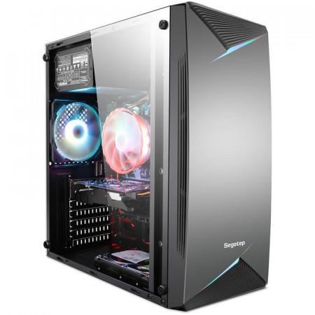 Carcasa Gaming Segotep Knight 03, USB 3.0, Panou Transparent