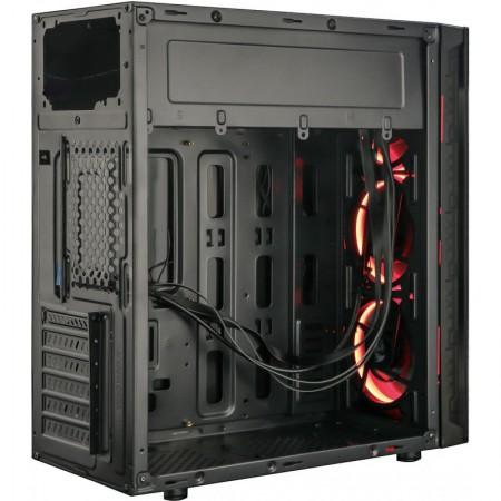 Carcasa Redragon TrailBreaker Black, Vent. 3x 120mm RGB led, USB 3.0, Panou transparent
