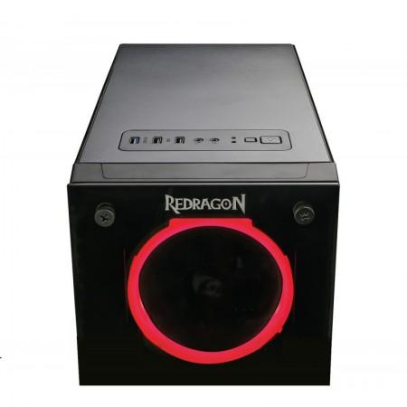 Carcasa Redragon TrailBreaker Black, Vent. 3x 120mm RGB Led, USB 3.0, Desigilat